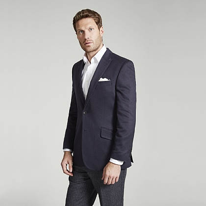 Navy Pure Cashmere Jacket