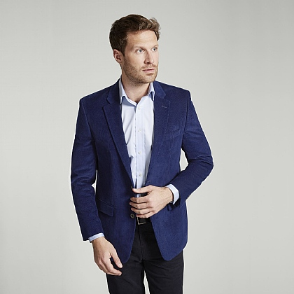 Mid Blue Fine Cord Jacket