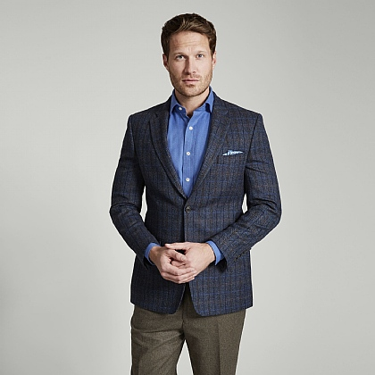 Blue Check Tweed Jacket