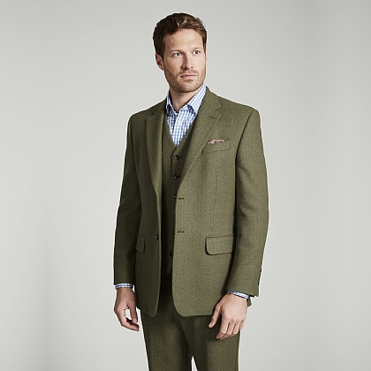 Green Tweed Blue and Yellow Overcheck Jacket