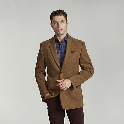 Beige Birdseye Cotton Jacket