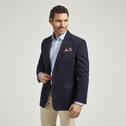 Navy Birdseye Cotton jacket