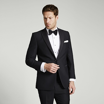 Black Dinner Suit Jacket Peak Lapel