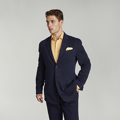 Navy Unstructured Cotton Jacket