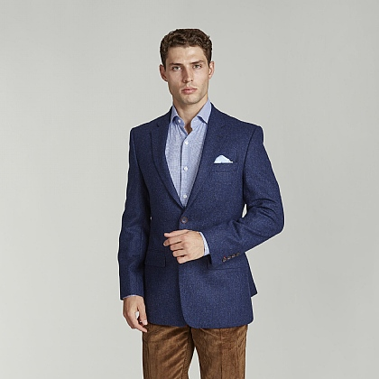 Plain Blue Wool Jacket
