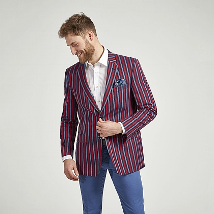 Bold Stripe Cotton Jacket