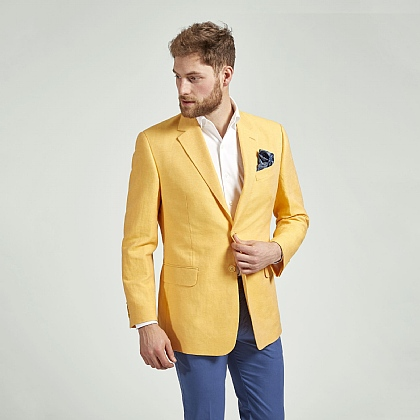 Yellow Linen and Cotton Jacket