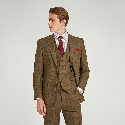 Khaki Tweed Check Jacket