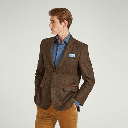 Brown Tweed Check Jacket