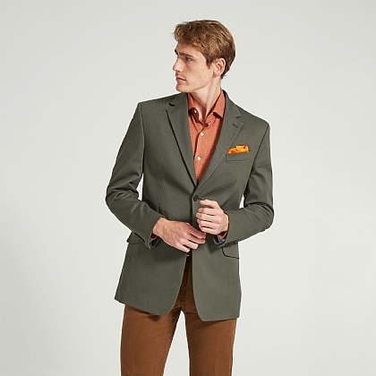 Khaki Casual Cotton Jacket