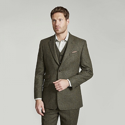 Green Donegal Tweed Jacket