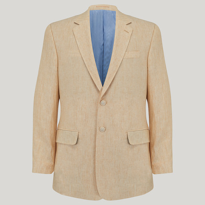 Wheat Plain Linen Jacket
