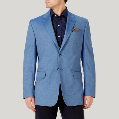 Blue Monaco Unstructured Jacket