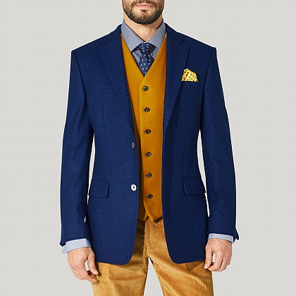 Navy Plain Wool Blazer