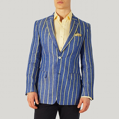 Blue And Yellow Boating Blazer