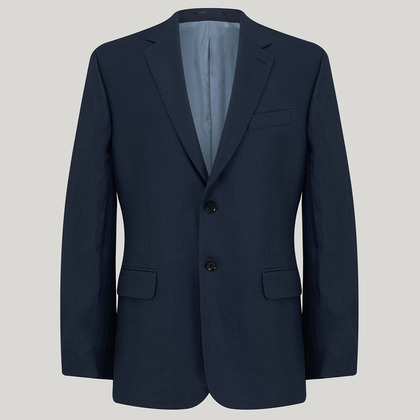 Navy Mix and Match Linen Jacket