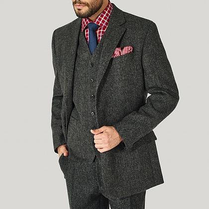 Grey Tweed Donegal Jacket