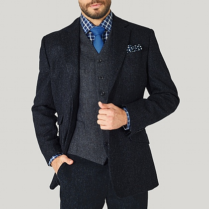 Navy Tweed Donegal Jacket