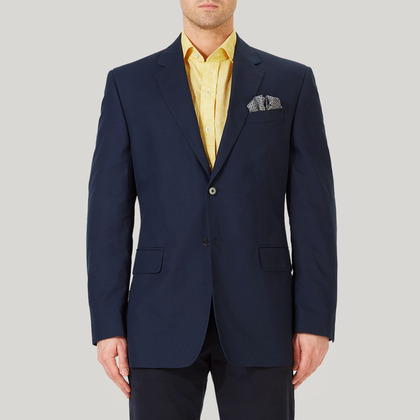 Navy Mix and Match Cotton Jacket