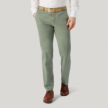 Green Cotton Classic Fit Trouser