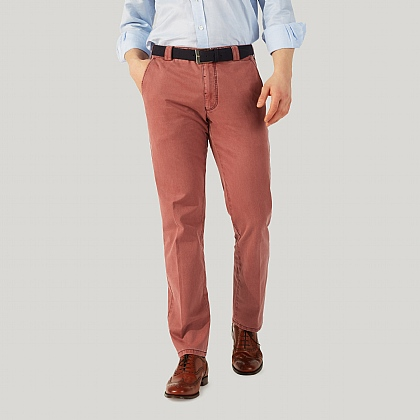 Pink Cotton Classic Fit Trouser
