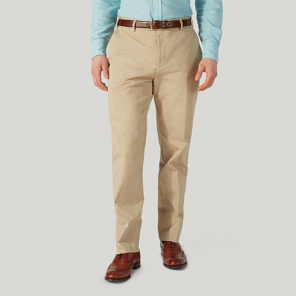 Beige Cotton Summer Trouser