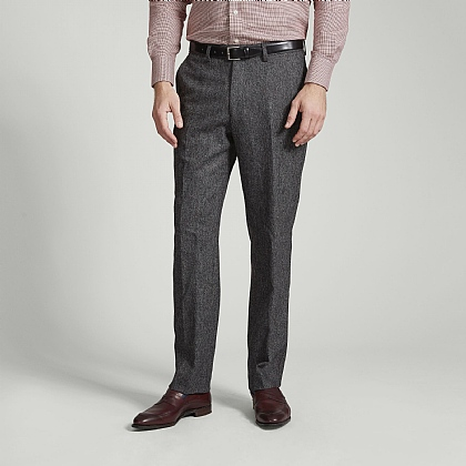 Grey Salt and Pepper Donegal Trousers