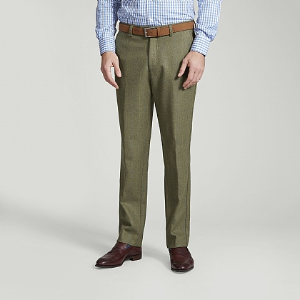 Green Tweed Blue and Yellow Overcheck Trousers