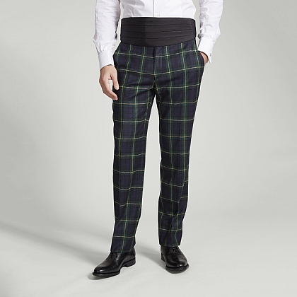Gordon Tartan Unfinished Trousers