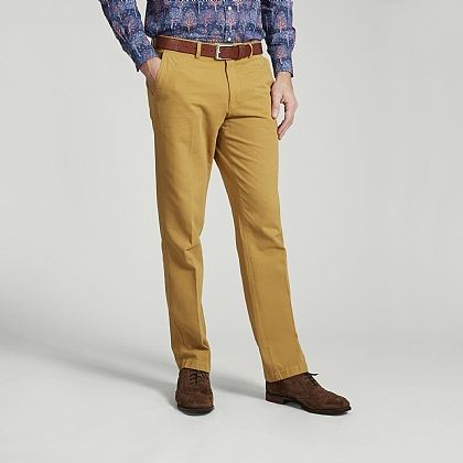 Mustard Cotton Chino