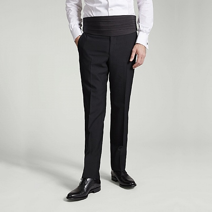 Black Dinner Suit Trousers Unfinished