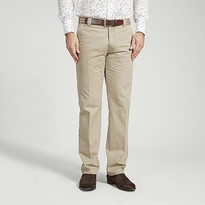 Beige Meyer Cotton Classic Trouser