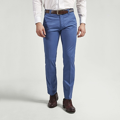 Dark Blue Meyer Cotton Classic Trouser