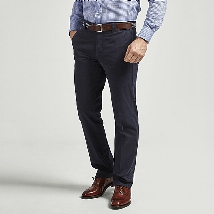 Dark Navy Meyer Cotton Classic Trouser