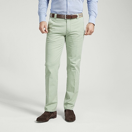 Green Cotton Classic Trouser
