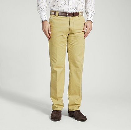 Mustard Meyer Cotton Classic Trouser