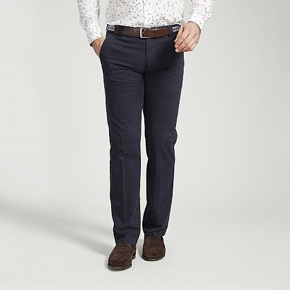 Navy Meyer Cotton Classic Trouser