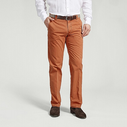 Orange Cotton Classic Trouser