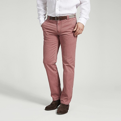 Pink Cotton Classic Trouser