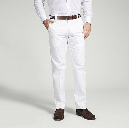 White Meyer Cotton Classic Trouser