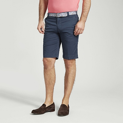 Navy Cotton Classic Shorts