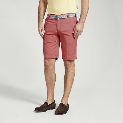 Red Cotton Classic Shorts
