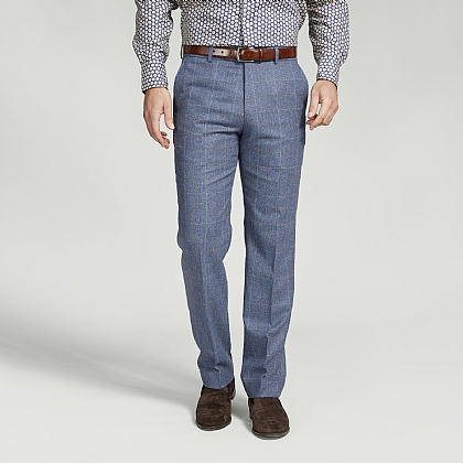 Blue and Brown Check Trouser