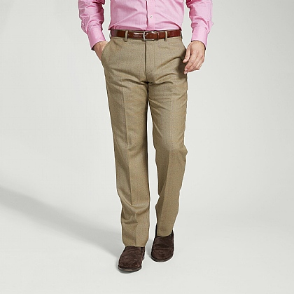 Sage and Mustard Check Trouser