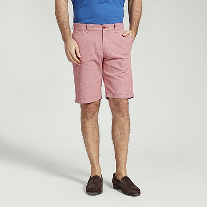 Salmon Cotton Casual Short