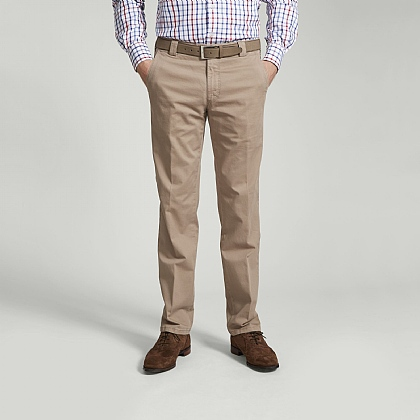 Beige Meyer Soft Cotton Chino