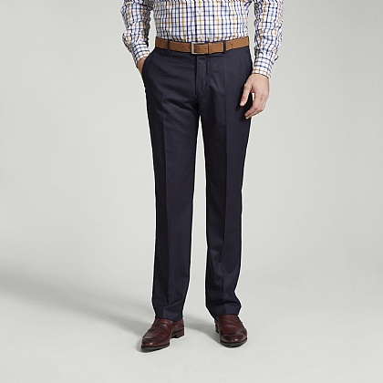 Navy Meyer Soft Cotton Chino