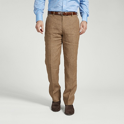 Coffee Linen Trouser