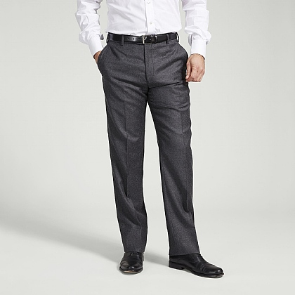 Charcoal Lightweight Flannel Trouser