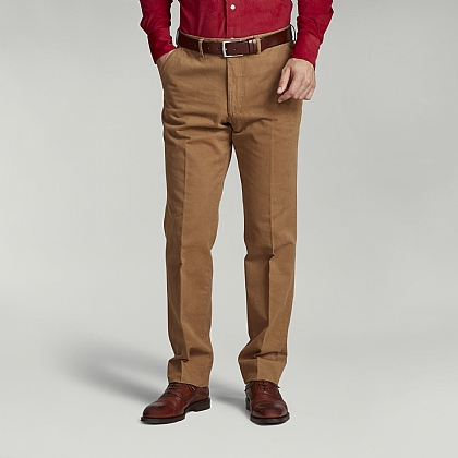 Tobacco Brown Cotton Trouser